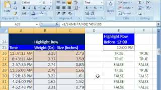 Highline Excel Class 21: Conditional Formatting 12 Examples