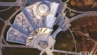 Уникальный Минск с высоты птичьего полета: выставка видеографов открылась в Национальной библиотеке