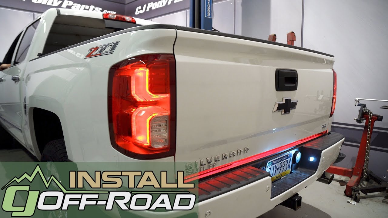 hight resolution of chevrolet silverado gmc sierra putco switchblade led tailgate light bar 60 2007 2018 installation