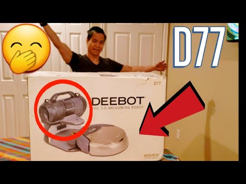 old-robot-vacuum-with-self-emptying-bin-|-deebot-d77-unboxing-and-comparison-to-modern-shark-iq