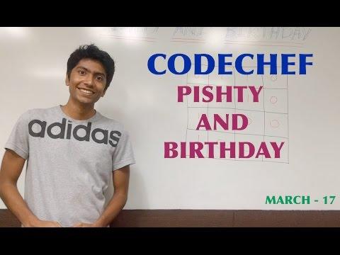 Codechef Editorial - Pishty and Birthday - MAR17