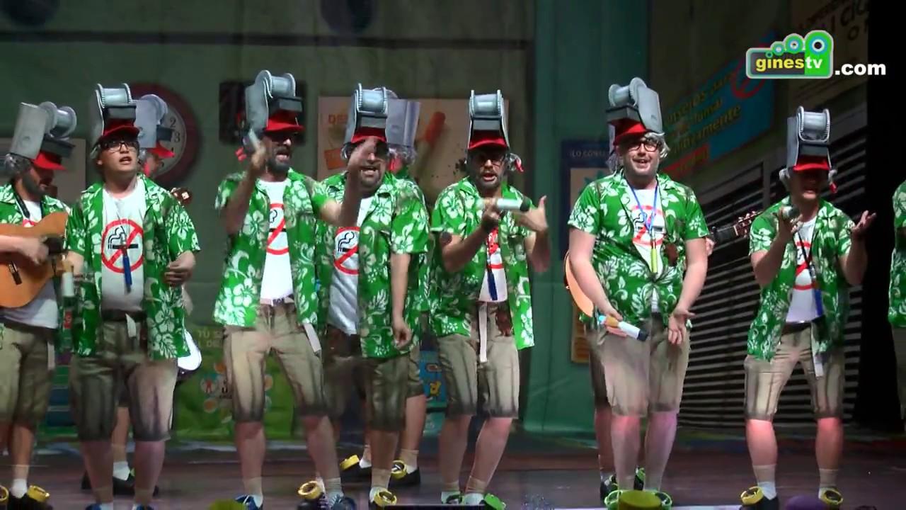 Los del mono amedia. Carnaval de Gines 2017 (Primera semifinal)