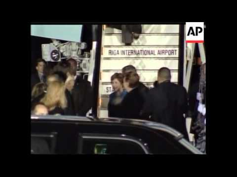 President arrives, protesters, security, security