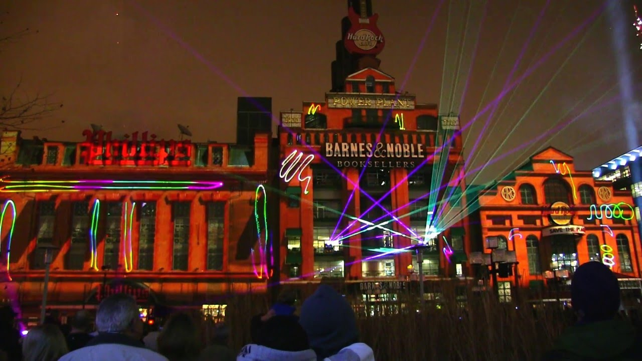 Baltimore Power Plant Holiday Light Show Spectacular - YouTube