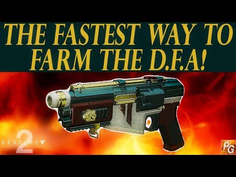 Destiny 2: The Fastest Way To Farm The DFA Hand Cannon!