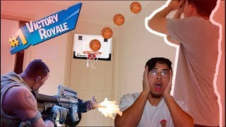 Mini Hoop Basketball Fortnite Challenge (Can I get a Victory Royale?)