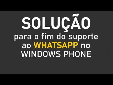Windows Phone - Fim Do Suporte Ao WhatsApp - Solução