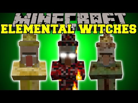 Minecraft: ELEMENTAL WITCHES MOD (TORNADOES, METEORS, & MORE INSANE ABILITIES!)!) Mod Showcase