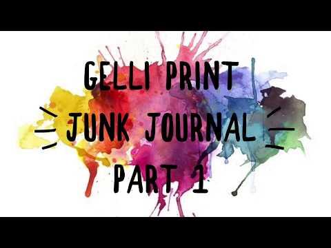 Gelli Print Junk Journal Part 1