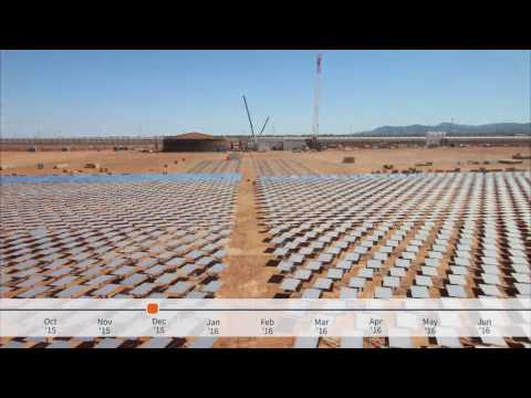 Solar Field Construction Time-lapse, Greenhouse Project, Port Augusta, Australia