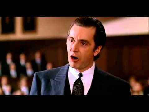 Profumo di donna Al Pacino discorso finale - YouTube