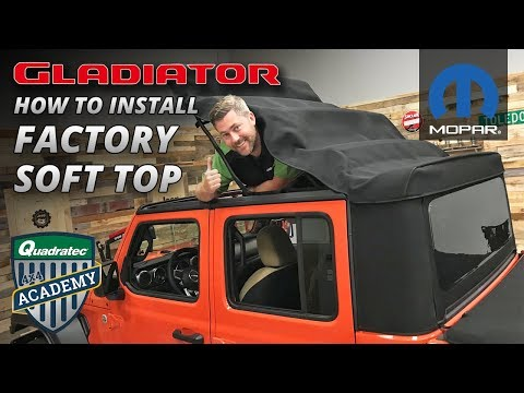 How to Install a Soft Top on a 2020 Jeep Gladiator JT