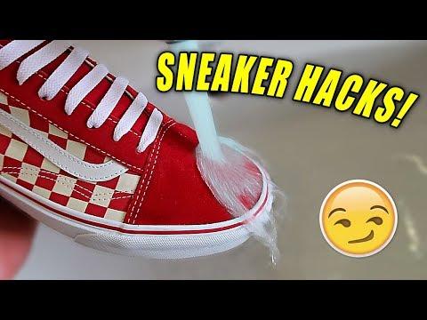 5 SNEAKERHEAD LIFE HACKS EVERYONE NEEDS!! (Make Your Shoes Waterproof!)