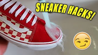 5 SNEAKERHEAD LIFE HACKS EVERYONE NEEDS!! (Make Your Shoes Waterproof!)
