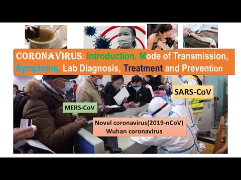 Coronavirus: Introduction, Mode Of Transmission, Symptoms, Lab Diagnosis, Treatment And Prevention