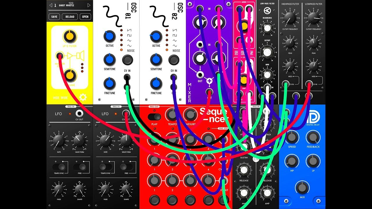 s modular modular synthesizer demo tutorial for the ipad youtube. Black Bedroom Furniture Sets. Home Design Ideas