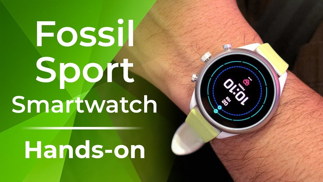 Fossil Sport Smartwatch hands-on: Snapdragon Wear 3100 on a budget