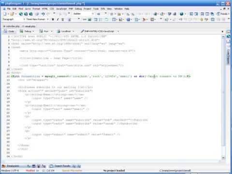 15 1 Tạo Mailing list với PHP & MySQL P1