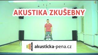Akustika zkušebny PŘED / PO