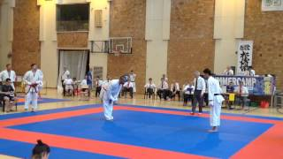 Sonny Roberts GBR (Aka) v Hiromichi Hirasawa JPN (Shiro) - Team Kumite PT2