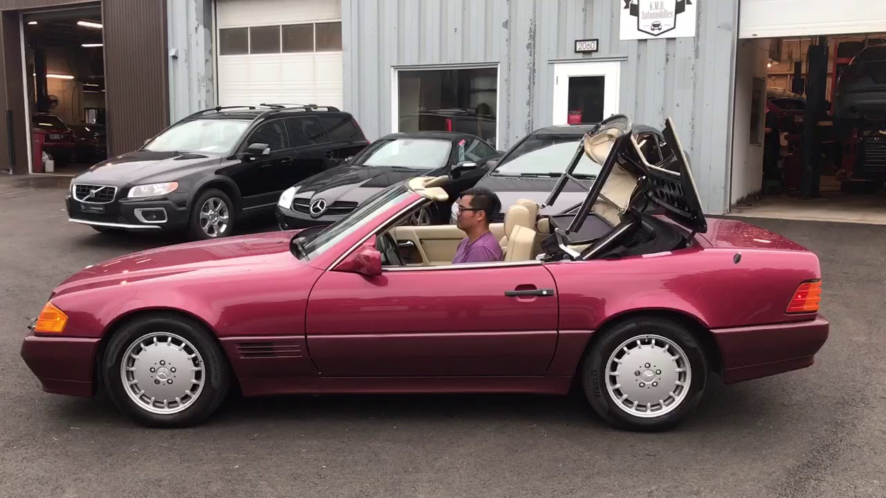 Mercedes 300sl 1991 Closing Soft Top