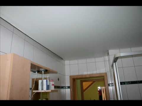 Dezett Spanndecke In Einem Badezimmer  Youtube