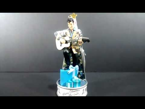 Elvis Presley Blue Christmas Musical Light up Ornament
