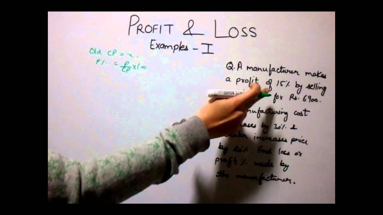 profit and loss examples 1 youtube
