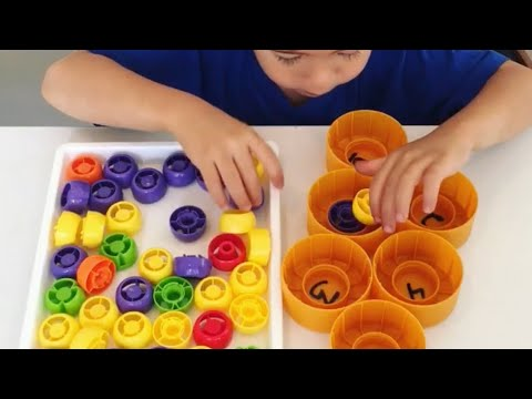 Counting With Lids - Fun Math Activity - Math Activities For Preschoolers