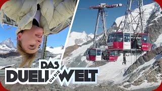 Kopfüber an einer Seilbahn hängen! Stefanie Giesinger in der Schweiz | Duell um die Welt | ProSieben