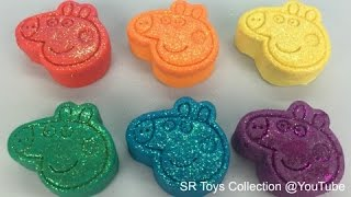 Learn Colors with Glitter Play Doh with Elephant Ice Cream Milk Bottle Molds Fun & Creative for Kids