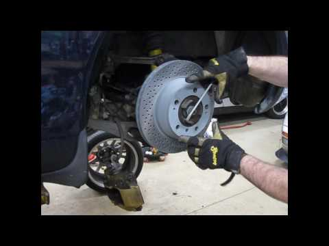 DIY - changing rear brakes (and adjusting parking brake) on a water-cooled Porsche
