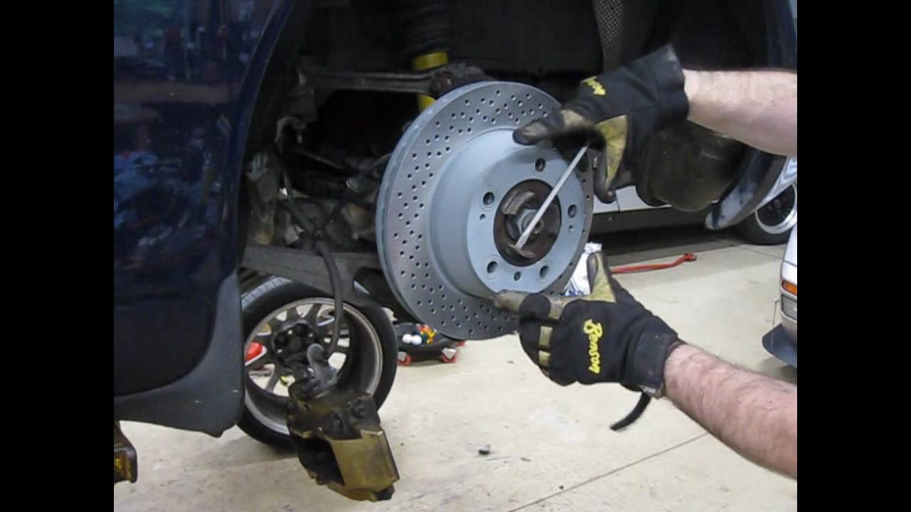 small resolution of diy changing rear brakes and adjusting parking brake on a water cooled porsche youtube