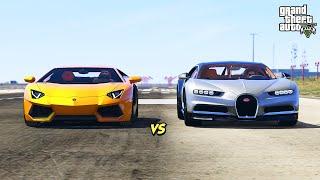 GTA 5 - Bugatti Chiron vs Lamborghini Aventador