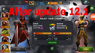 mcoc 12 1 update guillotine vs wolverine rol