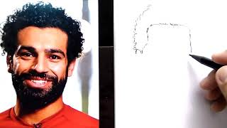 HEBAT, cara menggambar M. SALAH, lansung SPIDOL, / how to draw mohamad SALAH