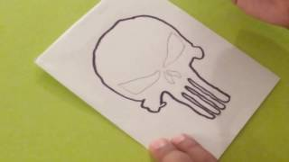 How to draw the Punisher Skull