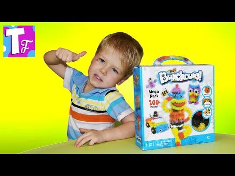 БАНЧЕМС Конструктор липучка Видео для детей Constructor Velcro Video for kids #Игрушки