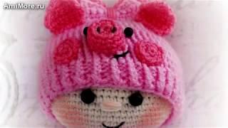 Амигуруми: схема Пупса в костюме свинки. Игрушки вязаные крючком - Free crochet patterns.