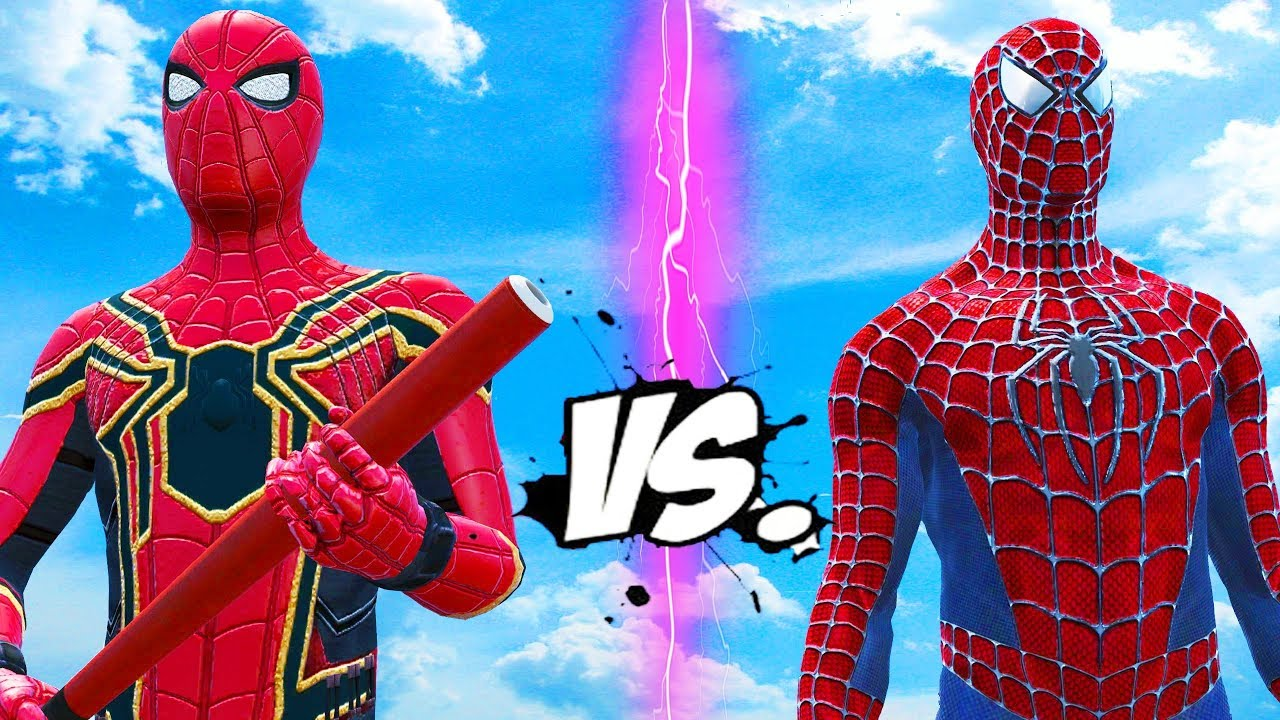 SPIDERMAN VS IRON SPIDER - EPIC SUPERHEROES BATTLE - YouTube