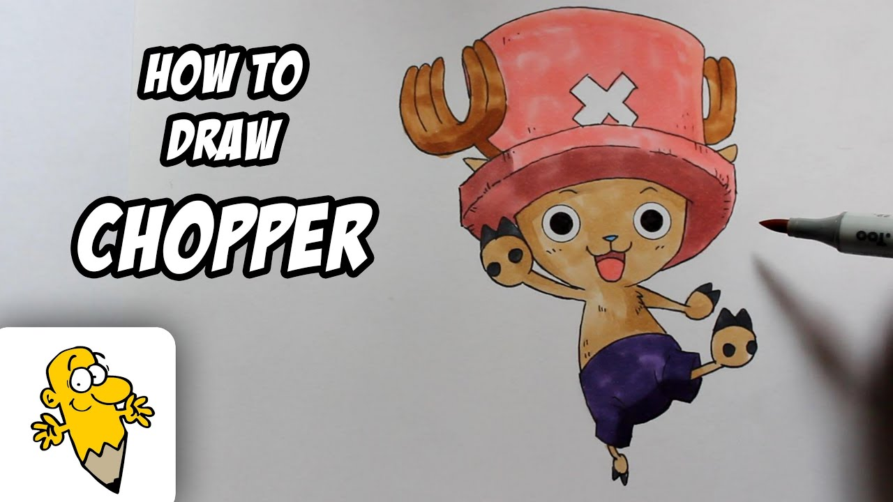 How to draw tony chopper one piece drawing tutorial youtube