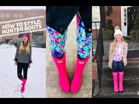 HOW TO STYLE: HUNTER BOOTS
