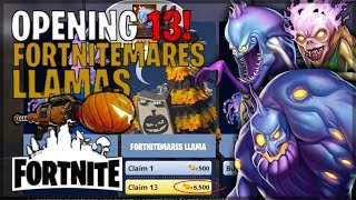 Opening 13! FORTNITEMARES LLAMAS! (Can We Get The Jack-O-Launcher?)