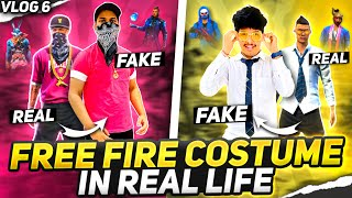 Wearing Free Fire Clothes In Real Life || Reaction on Second ElitePass😵🤣 - Two Side Gamers Vlog 6