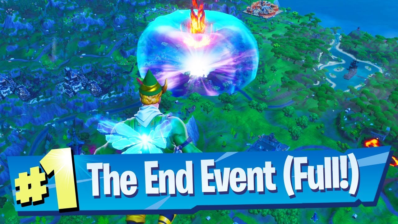 Fortnite The End Event Full Gameplay Reaction