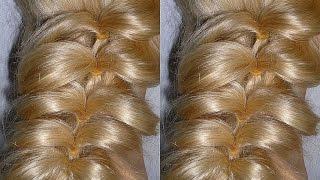 Быстрая причёска с помощью резинок БЕЗ ПЛЕТЕНИЯ. Причёски для средних и длинных волос.