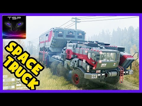 Mudrunner ► Space Expedition Truck & Volvo A40G - Gameplay with Mods