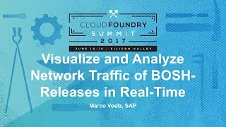 Visualize and Analyze Network Traffic of BOSH-Releases in Real-Time