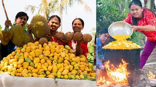 Wow! Cooking 500KG Mango Fruit  Full Manual Traditional Dried Jam Mango With Jackfruit and Coconut
