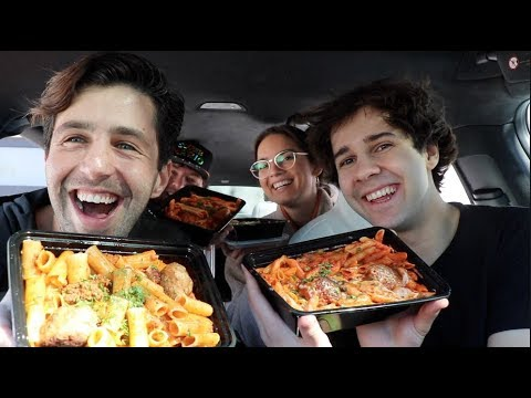 PASTA MUKBANG ft DAVID, NATALIE AND JONAH!!